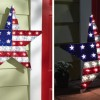 Patriotic Lighted Star Wall Decor