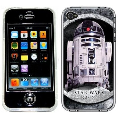 R2D2 Star Wars Handmade iPhone 4 4S Full Hard Plastic Case