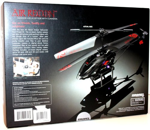 REMOTE CONTROLLED INDOOR 2-SPEED HELICOPTER WITH DIGITAL RECORDING VIDEO CAMERA
