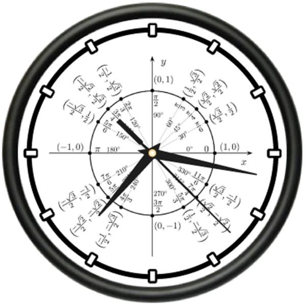 RADIAN Wall Clock trigonometry math teacher
