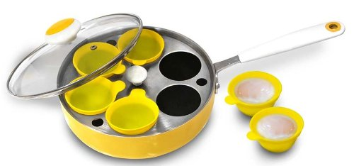 6-Egg Poacher with Silicone Egg Cups