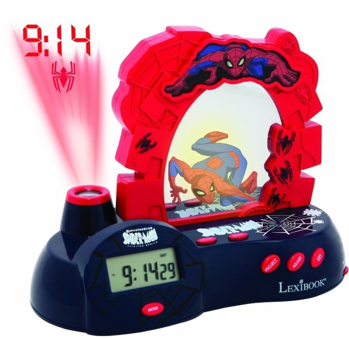 Spider-Man Radio Clock Projector