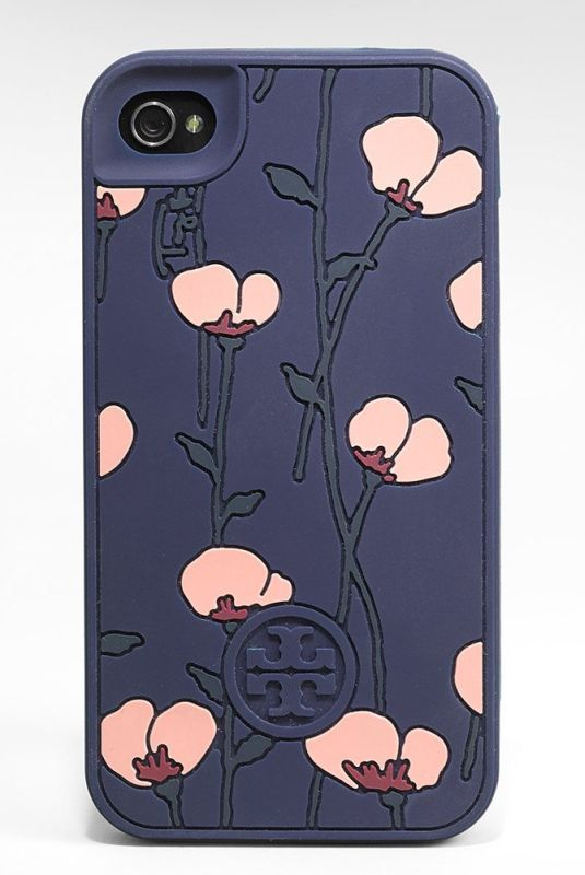 TORY BURCH IPHONE 4 4S POPPIES SILICONE CASE