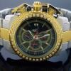 Richard & Co 1.25 Ct Aqua Diamond 2 Tone Watch Rc-3021