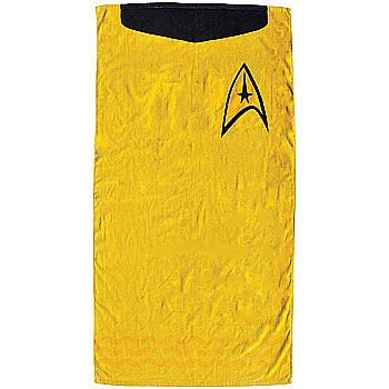 Captain Kirk's Uniform All Cotton Beach Towel
