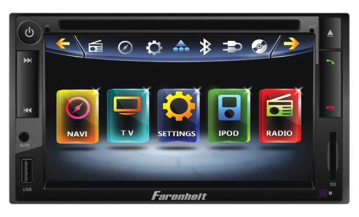Double DIN Multimeadia Indash Source with 6.5-Inch Screen