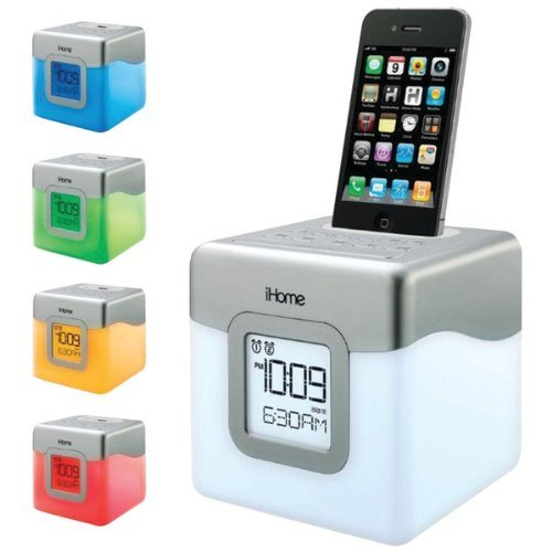 iHOME Ip18W iPhone/iPod Led Color-Changing Dual Alarm Clock Speaker System