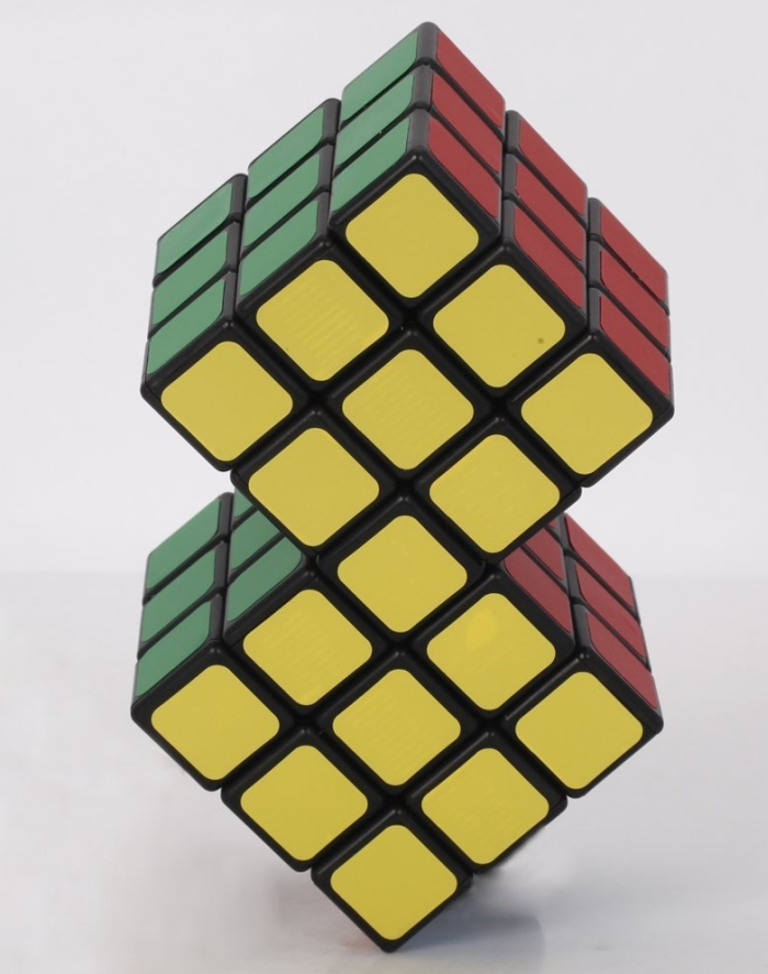 2 in 1 Conjoined 3x3x3 Rubik's Magic Cube Puzzle Toy Gift