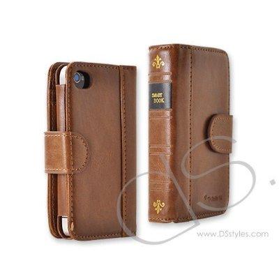 Retro BookBook Series iPhone 4 and 4S Leather Case