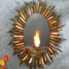 Spiral Sunburst Wall Mount Gel Fuel Sconce