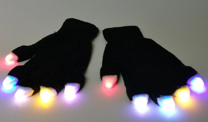 Black LED Gloves