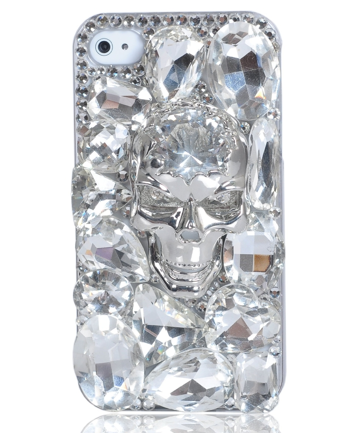 Swarovski Crystal Skullcandy Style Phone Case for Iphone 4 4s