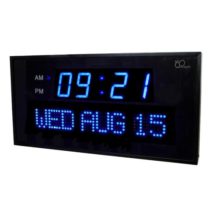 Digital Blue LED Calendar Clock