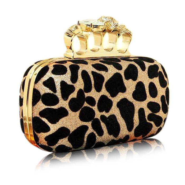 Skull Rings Clutch Handbag Fashion
