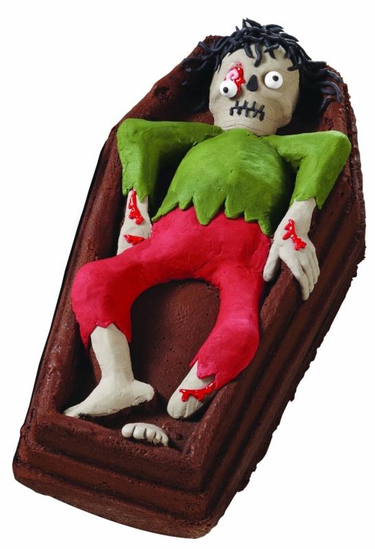 Halloween Dimension Cast Aluminum 3D Skeleton Pan