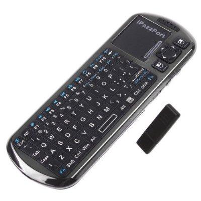 iPazzPort Voice Speaker Microphone 2.4G Mini Wireless Keyboard with IR Remote