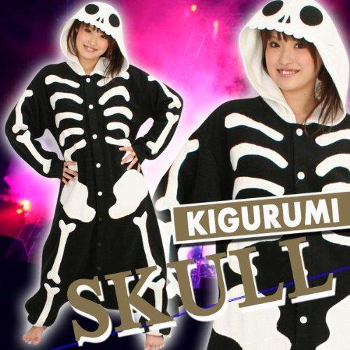 Kigurumi Skeleton Halloween Costumes Fancy Cosplay Kigurumi Adult