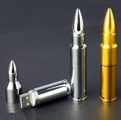 32 Gb USB Memory Stick Flash Pen Drive Bullet Silver