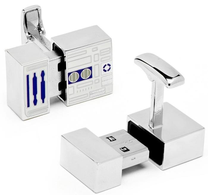 Star Wars R2D2 4GB USB Flash Drive Cufflinks