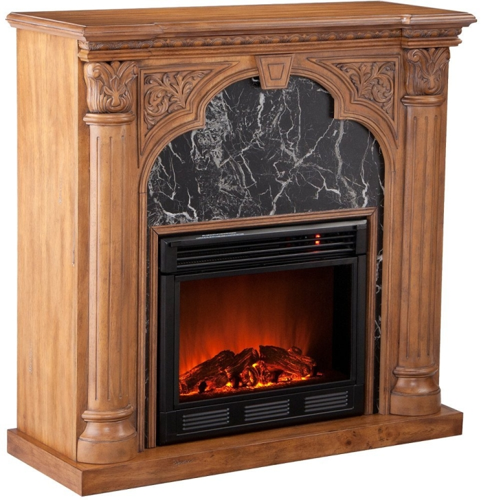 Electric Fireplace - Old World Oak