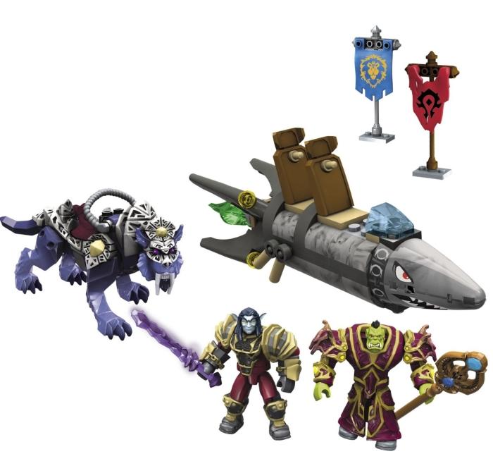 Mega Bloks World of Warcraft Barren Lands Chase