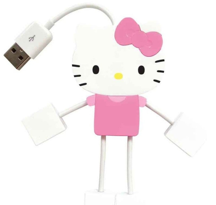 Hello Kitty 4-Port Kitty Hub USB