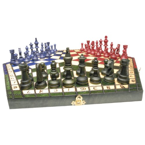 Wooden Chess Set For Three Players