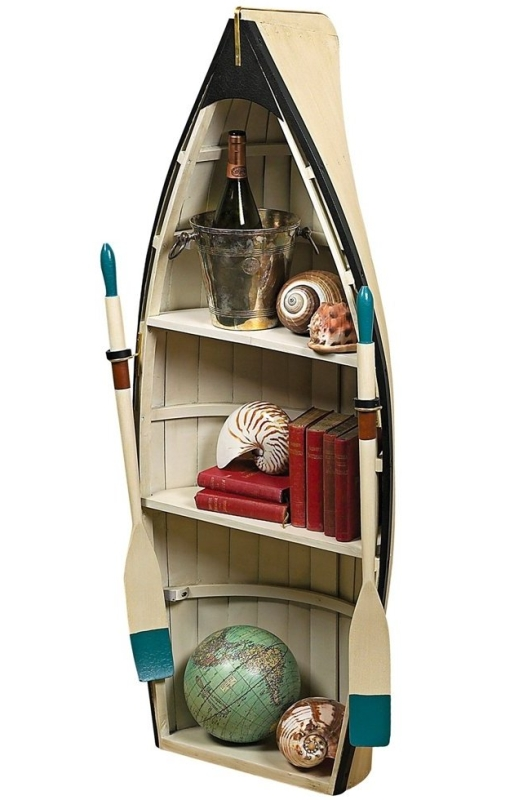 Dory with Glass Bookshelf Table