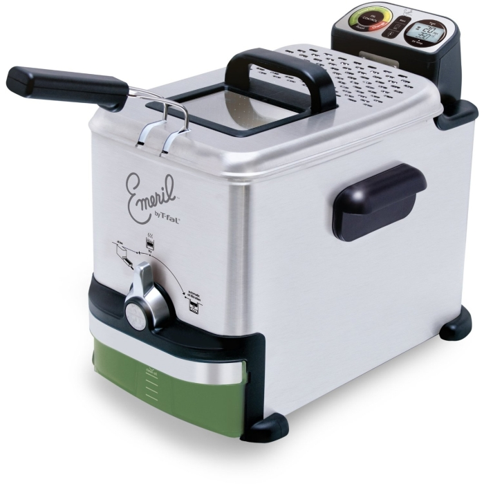 Silver Stainless Steel Digital Immersion Deep Fryer