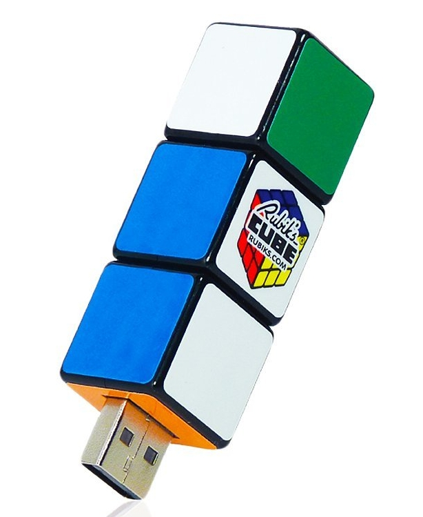 Cube USB Rotating Key 8Gb Flash Drive