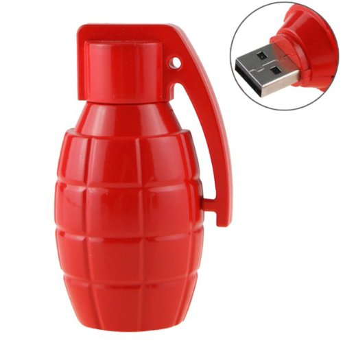Grenade Shaped 16GB USB 2.0 Flash Memory U Disk