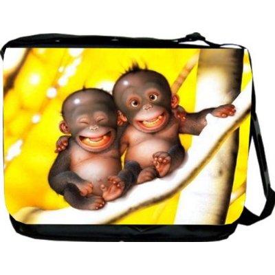 Laughing Monkeys Design Messenger Bag