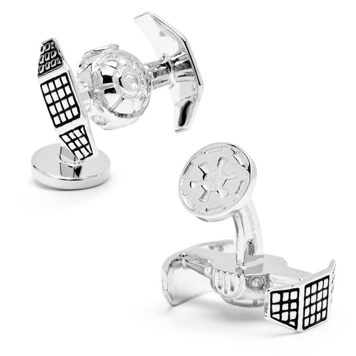 Star Wars Palladium Darth Vader Tie Starfighter Cufflinks Cuff Links