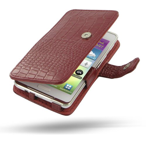 Crocodile Pattern Leather Case for Samsung Galaxy S WiFi 4.2 / Galaxy Player 4.2