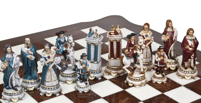 The Sun King Louis the XIV Luxury Chessmen