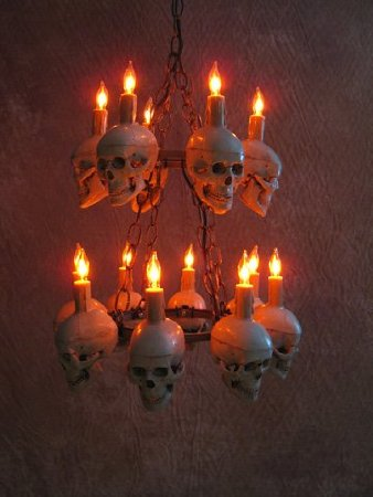Tiered Medium Skull Chandelier