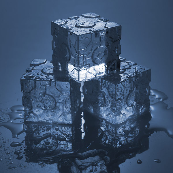 Portal 2 Companion Cube Ice Tray