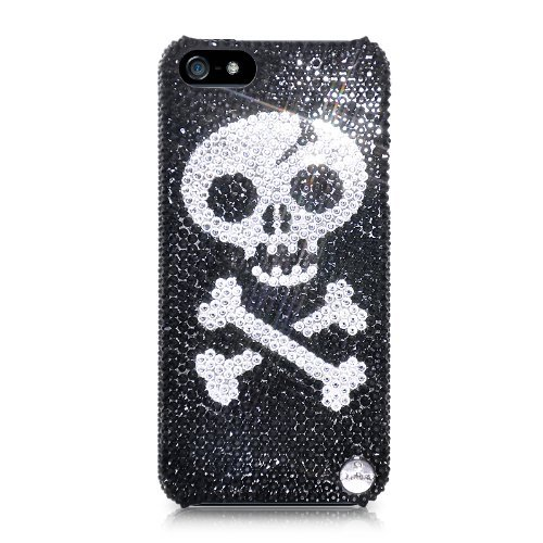 Skull Bones Swarovski Crystal iPhone 5 Cases