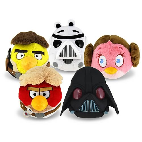 Star Wars Angry Birds Series 1 5-Inch Plush Case