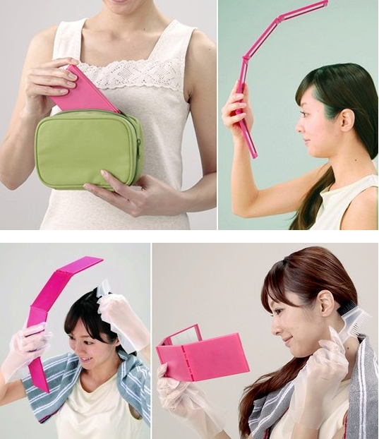 Four-Sided Panorama Compact Mirror
