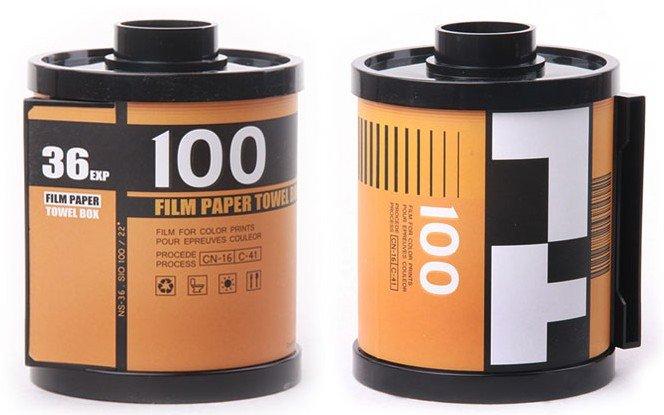 Film Shaped Paper Towel Box (Orange)