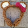 Honey Bear Crocheted Headphones