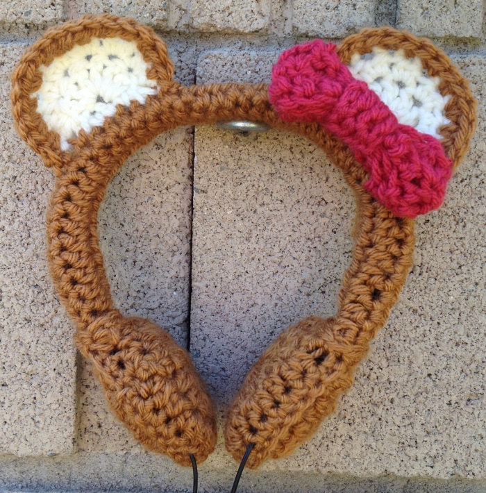 Honey Bear Crocheted Headphones