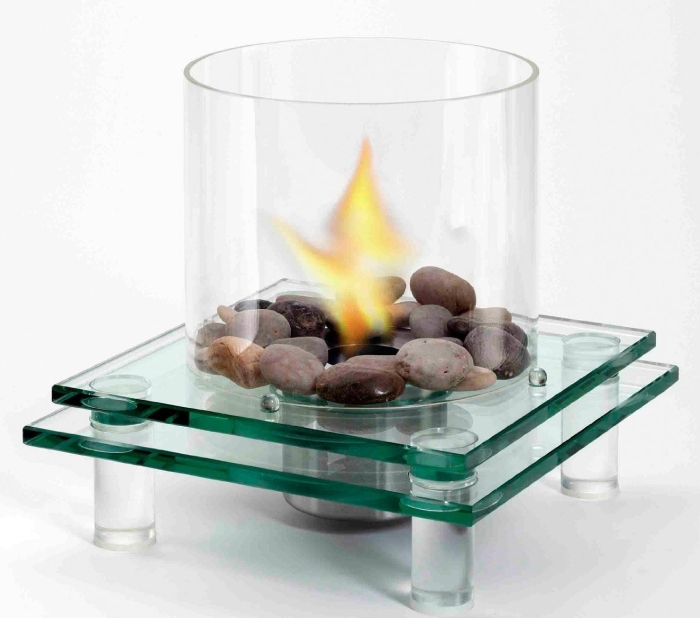 Architectural Glass Fireplace