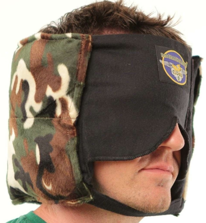 Camping Buddy Sleep Mask Sound Muffling Camping Pillow
