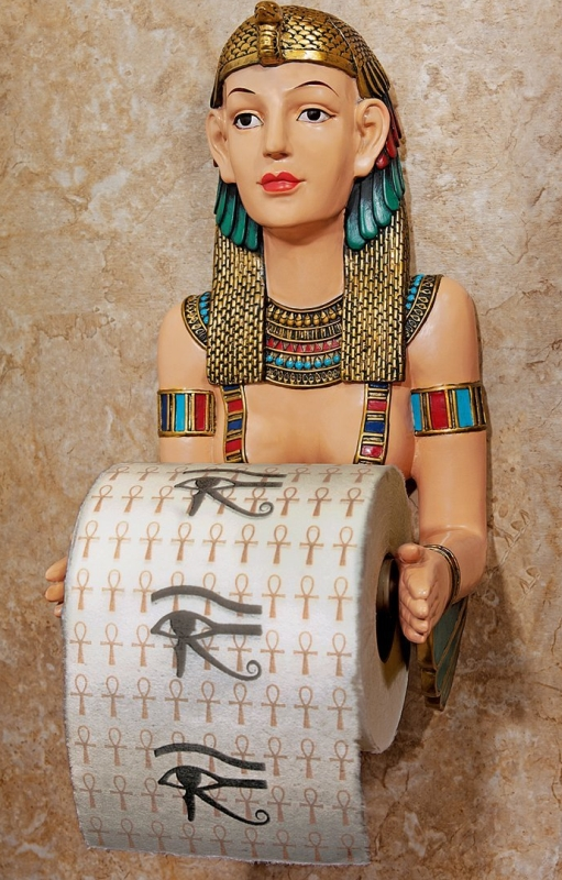 Egyptian Priestess A Kah Kah Loo Bath Tissue Holder