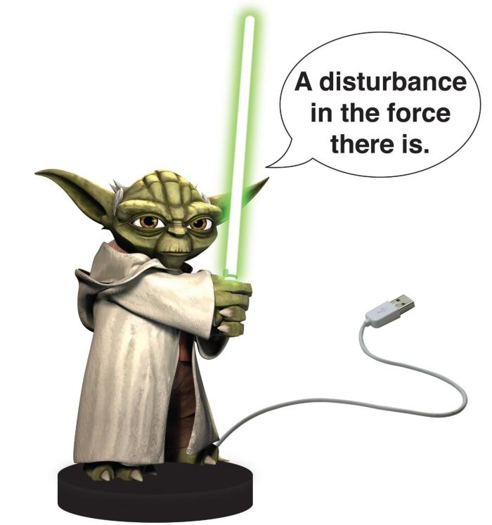 Star Wars Yoda USB Desk Protector Figure