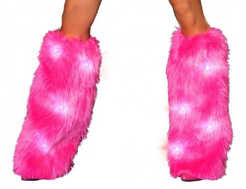 Fluffy Leg Warmers Light-up LED
