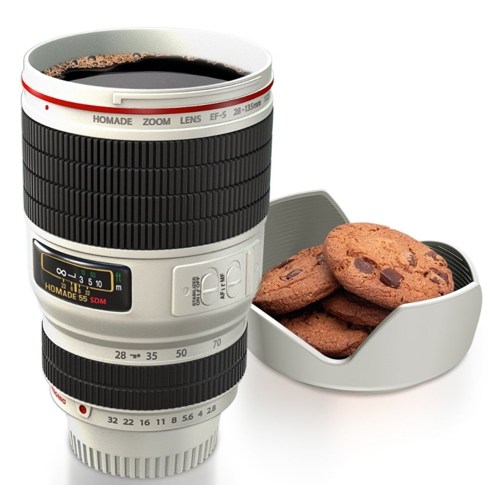 Camera Zoom Lens Cup Coffee