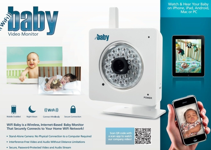 WiFi Baby - Wireless Video & Audio to iPhone, iPad, Android, Mac or PC